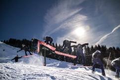 Snowboard collage